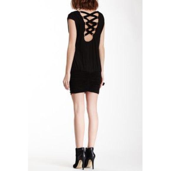 Sky Dresses & Skirts - Sky Crisscross Suede Back Dress M NWT